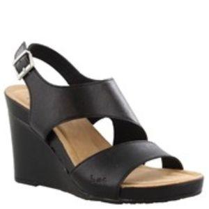 New B.O.C. Black Skim Wedge Sandal